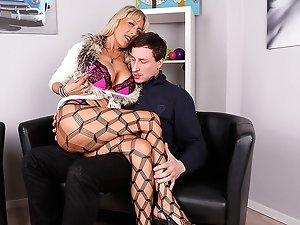 Hot German housewife fucking with her lover