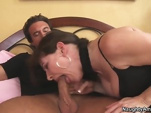 Alexandra Silk sucking and riding Rocco Reed�s cock!