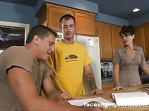 Mom fucks her son's friend
