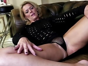 Mature mom with perfect body and hungry holes