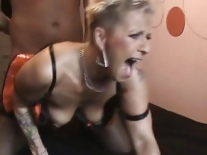 Mature stockings slut fuck and cumshot