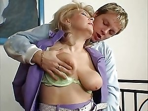 Hot Blonde Euro Granny Cougar Banging