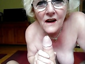 Claire Knight slurping huge load of cum