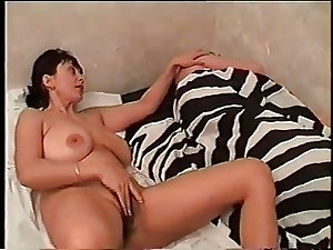 Nice mom with giant saggy boobs, hairy cunt & guy