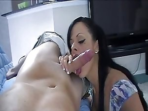 Step-mom blowjob
