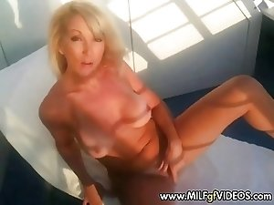 Hot amateur MILF playing with toy on a cruise boat