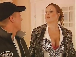 Busty German Mature Seduce Young Guy