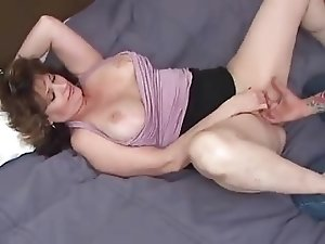 Busty Mature Amateur with Younger Guy