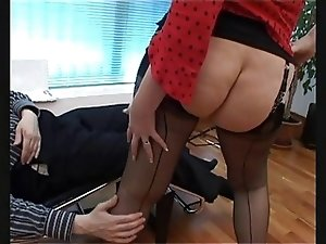 Red- Perfect Nylon Lady