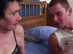 Old Granny and Young Cock
